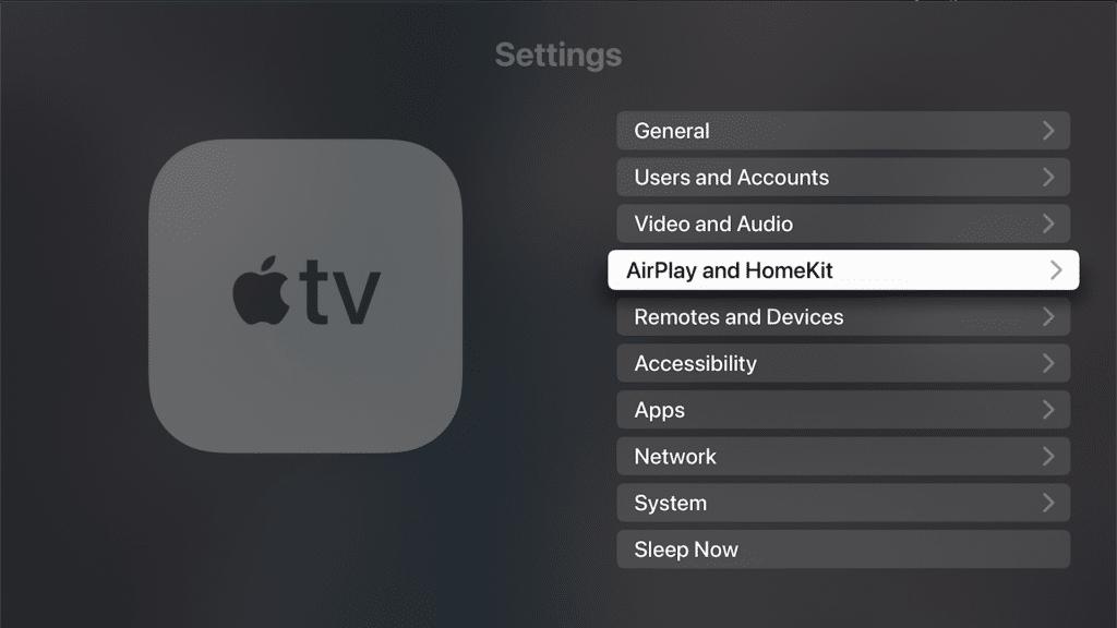 HomeKit Hub settings