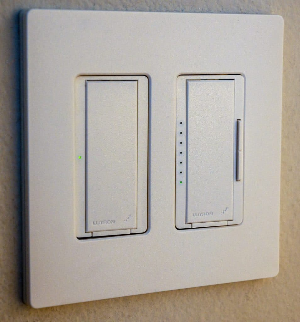 Lutron dimmer, switch, and wall plate