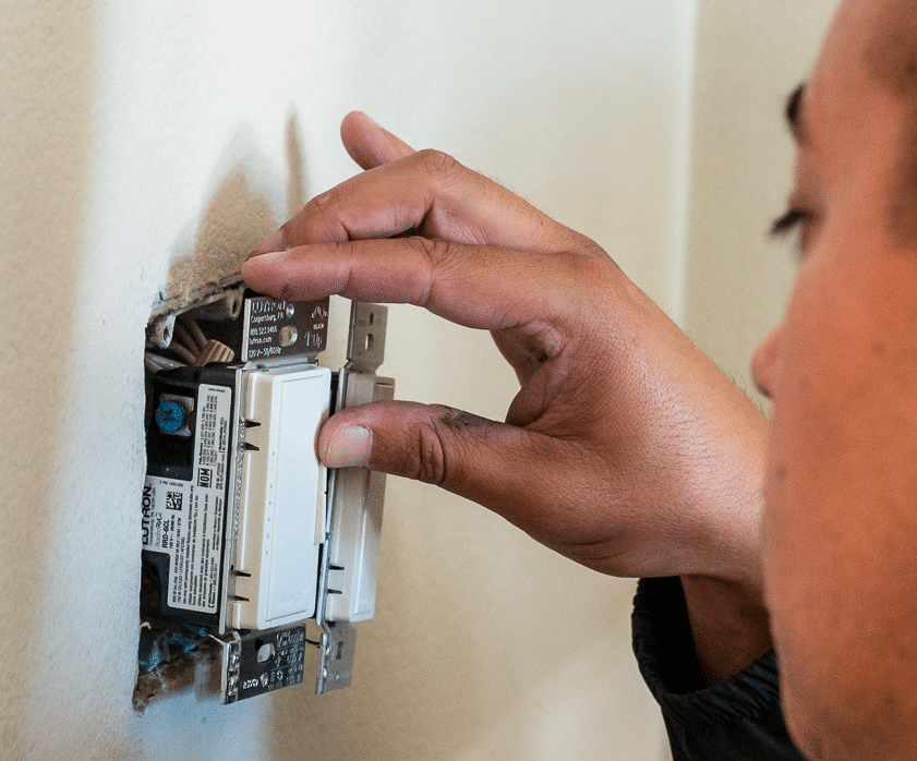 Installing Lutron dimmer and switch