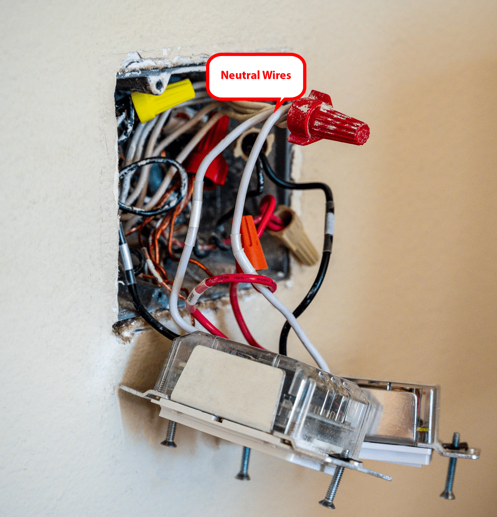 Dimmers with neutral wire connections