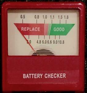 Battery test meter